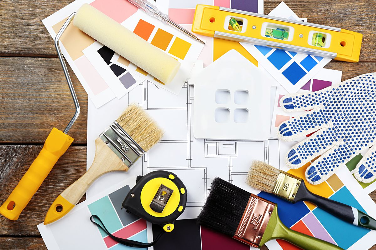 Home Remodeling Stock Photo