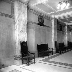The west wall of the Hotel Utah's lobby.