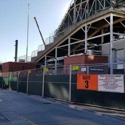 Northwest corner of ballpark