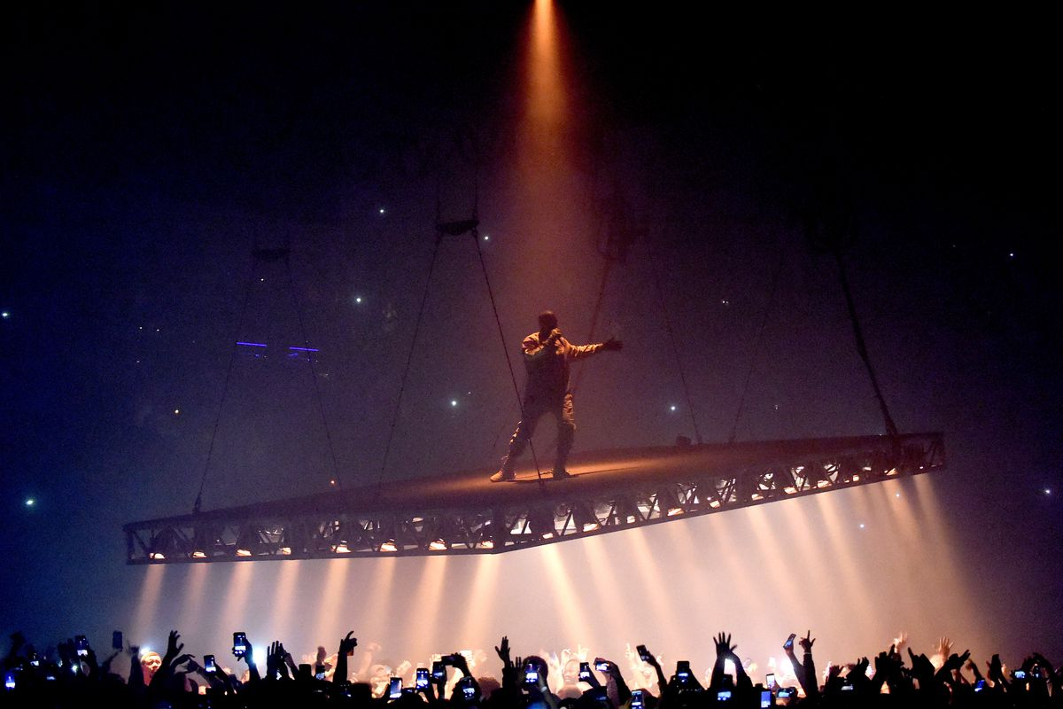 Rapper Kanye West performs at the Forum on October 25, 2016 in Inglewood, California.