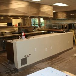 A bar of sorts will be set up here in the kitchen. Tasting menu diners will sit here to enjoy the final course.