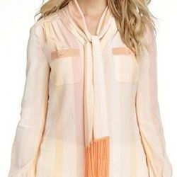 "<b>Lane</b> blouse, <a href=""http://www.toryburch.com/LANE-BLOUSE/52111105,default,pd.html?dwvar_52111105_size=0&dwvar_52111105_color=694&start=56&cgid=sale"">$237</a> (originally $395)."
