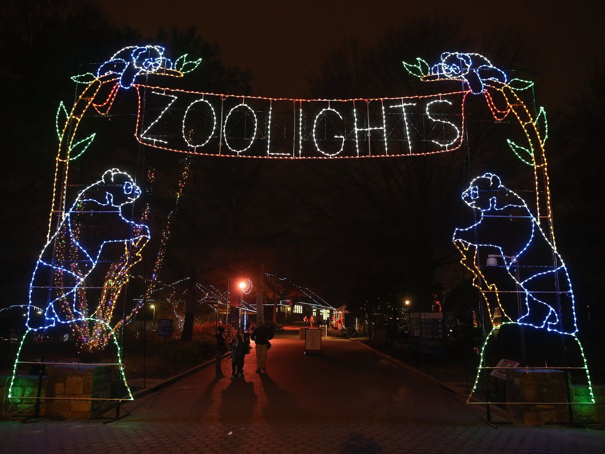 Smithsonian National Zoological Park Holds 'Zoolights' Holiday Display