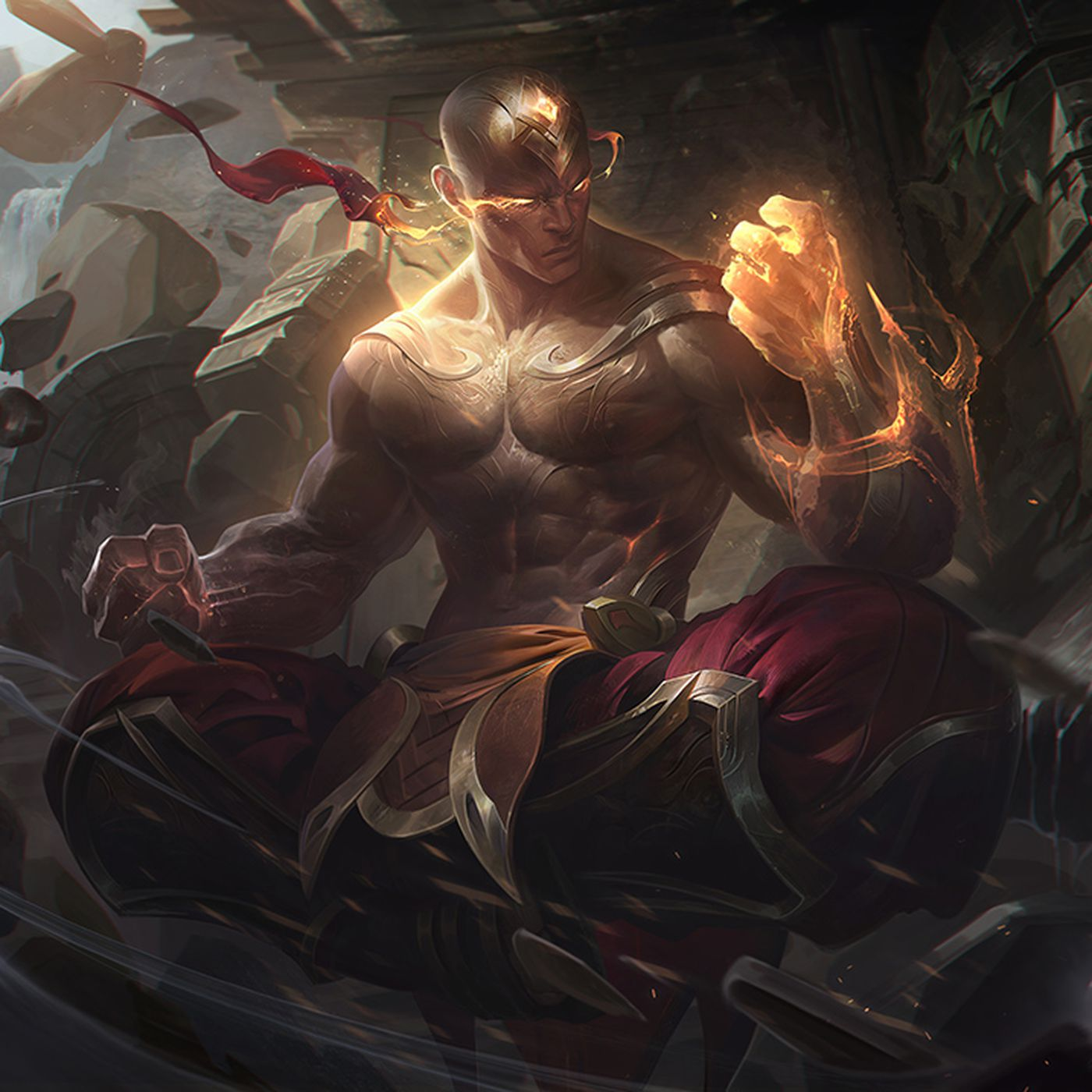 New Lee Sin skin: God Fist is shiny, golden and can see - The Rift