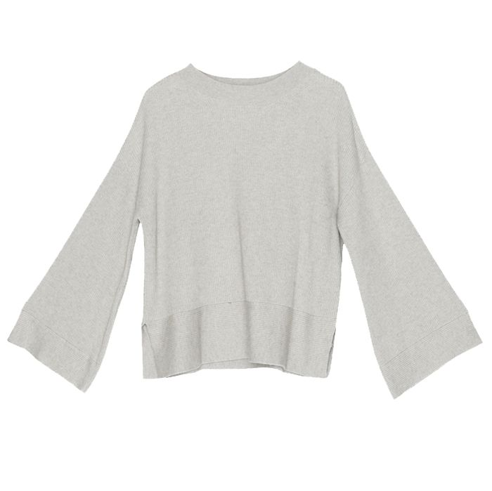 gray colored lacausa sweater