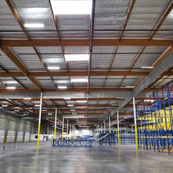 Looking across the vast expanse of the new warehouse in La Mirada.