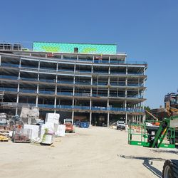 South view of plaza building -