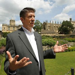 Utah Valley University President Matthew Holland talks about his time while on a sabbatical at Pembroke College, Oxford University, England, on June 14, 2017.