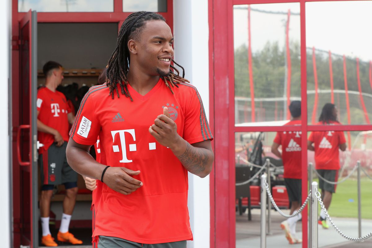 MUNICH, GERMANY - JULY 04: Renato Sanches of FC Bayern Muenchen arrives for a training session at the club's Saebener Strasse training court on July 4, 2018 in Munich, Germany.