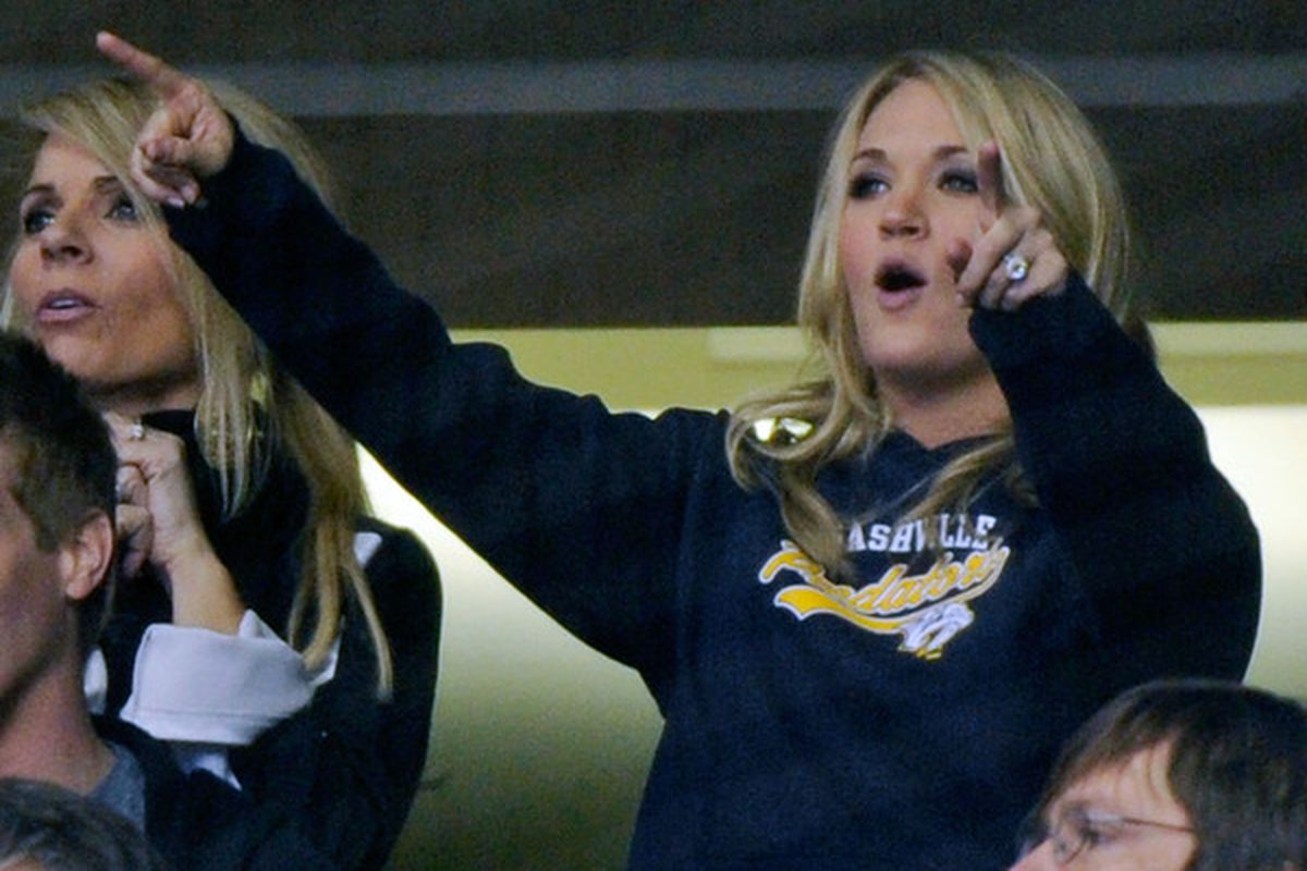 Hey look, Carrie Underwood was there!  (Photo by Frederick Breedon/Getty Images)