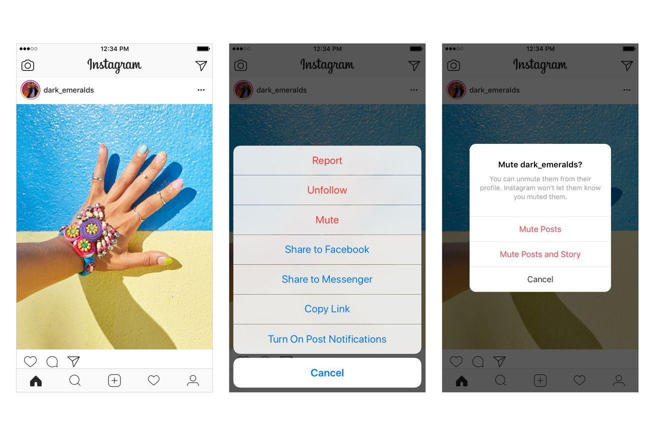 instagram now lets you mute your friends