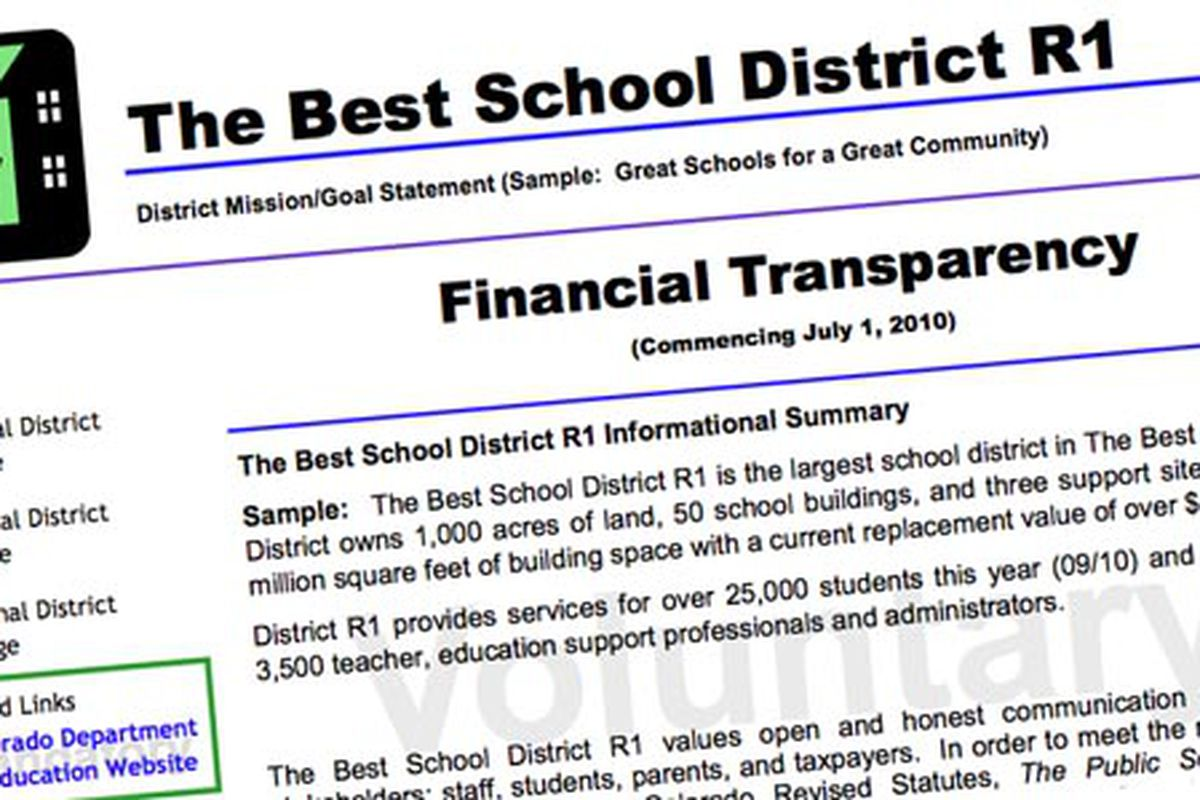 Sample district transparency template