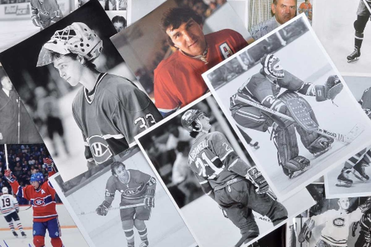 A massive collection of photos (many autographed) was one of the many Habs lots that met the hammer at Classic Auctions last Tuesday.