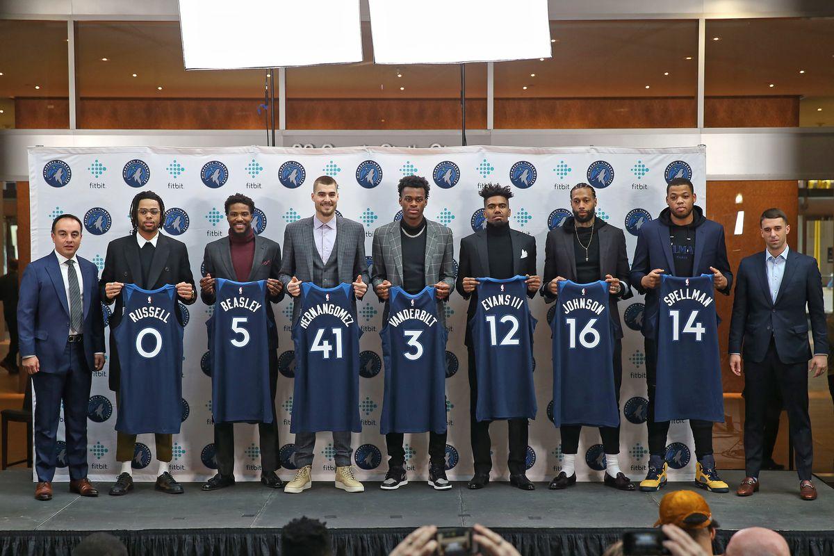 Minnesota Timberwolves Introduce New Players - Presser