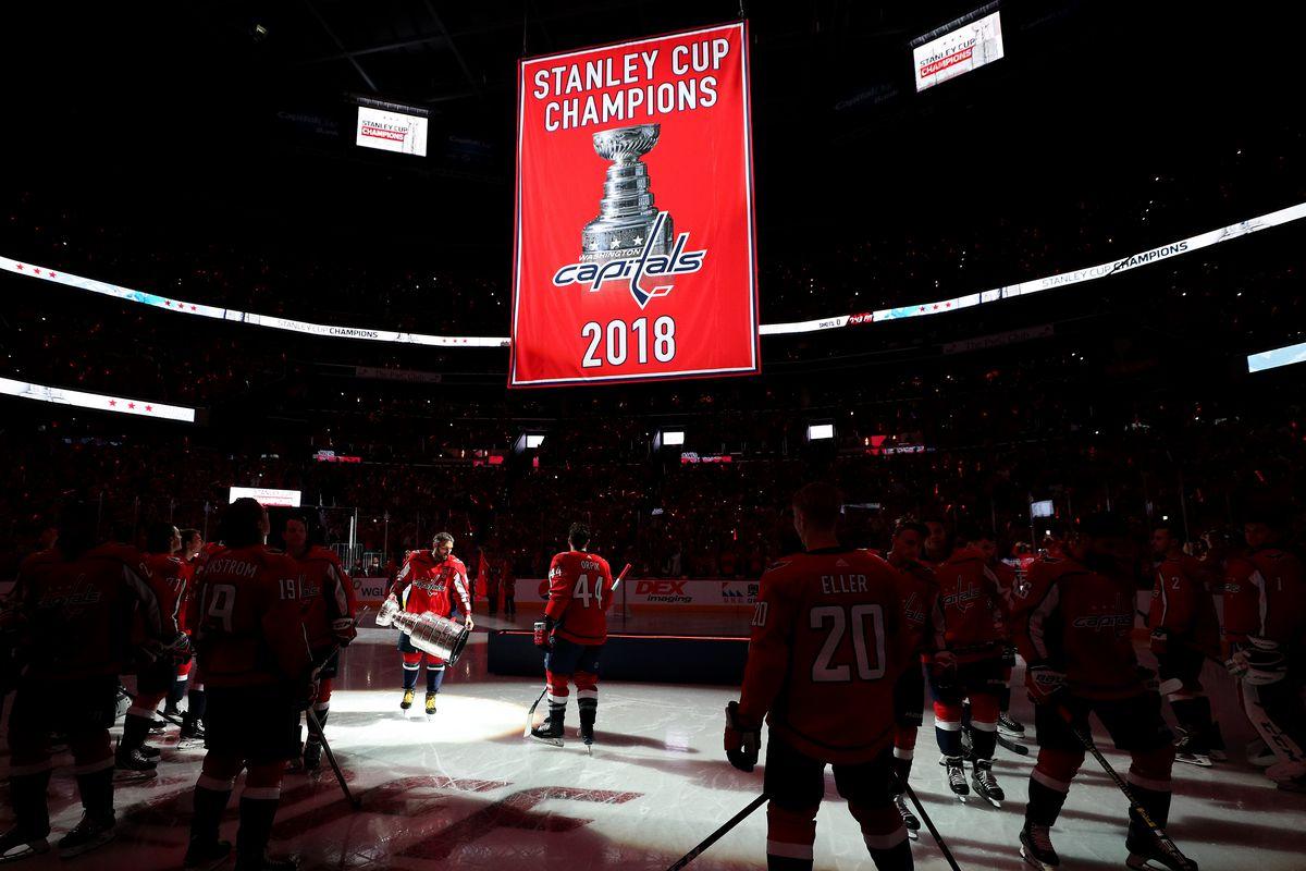 c598220e4e0 Caps vs. Bruins Recap  Washington Raises Banner
