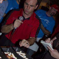 Stephane Chevet of Shibuya explains the MGM Grand team's dish.