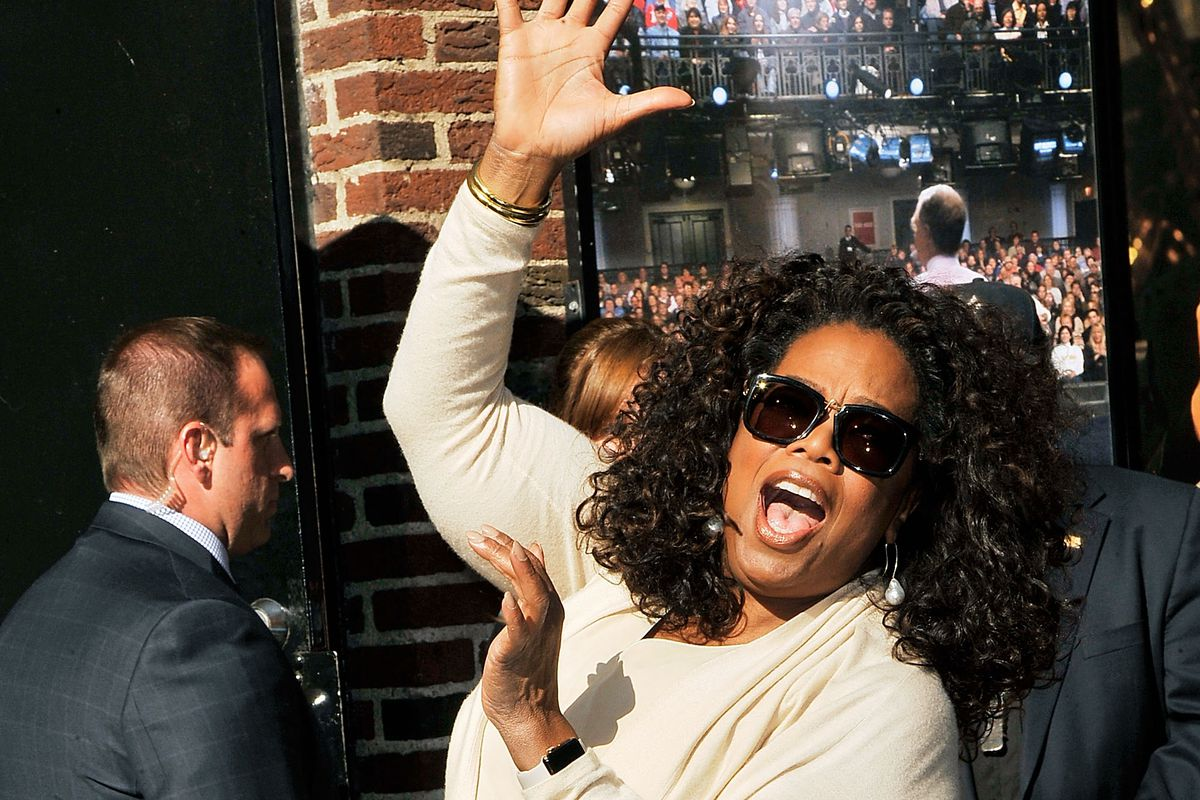 Oprah Winfrey on May 14, 2015, in New York City.  (Photo by Chance Yeh/Getty Images)