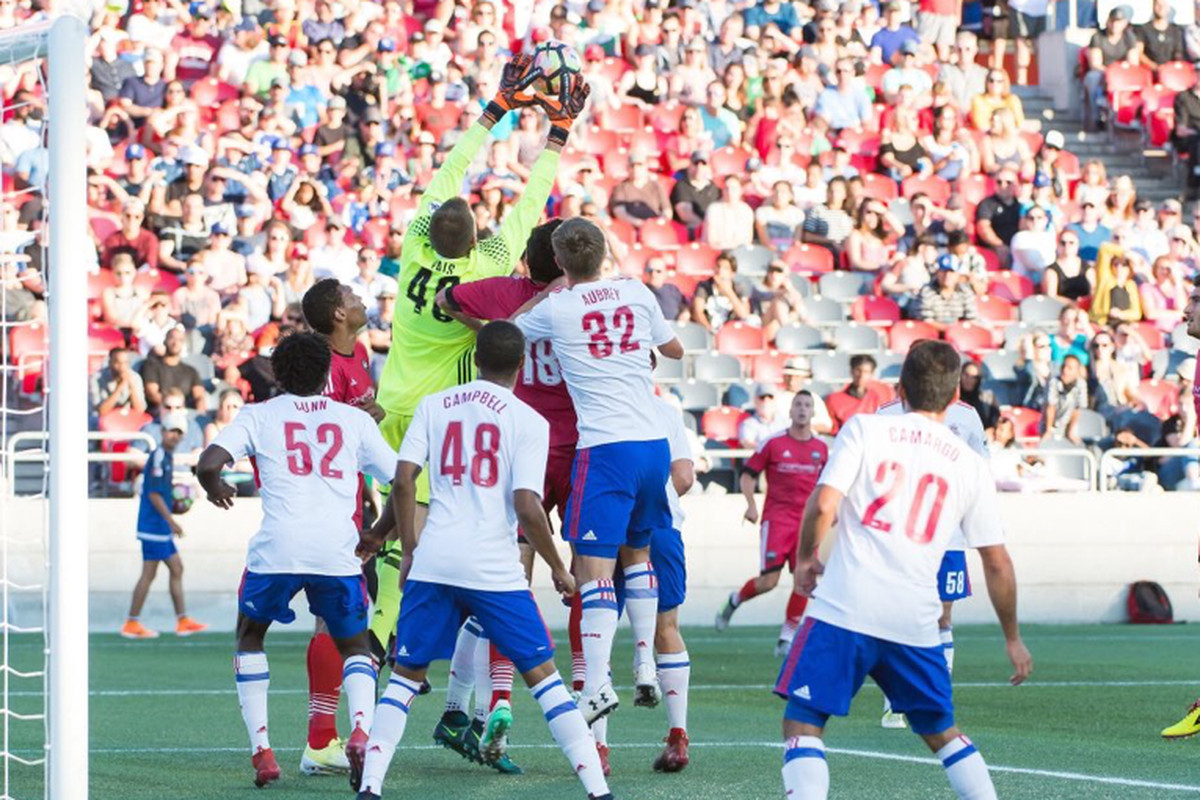 USL Photo - TFC II defends a set-piece on Saturday in Ottawa
