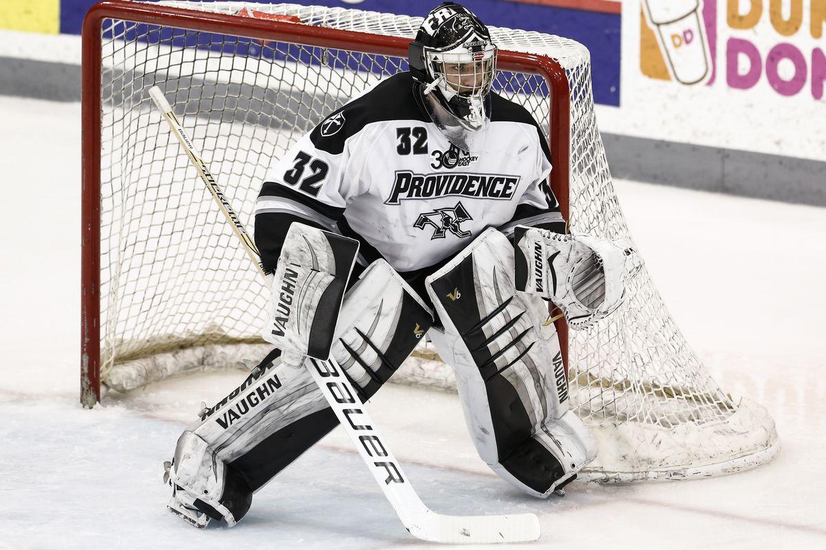 Providence goaltender Jon Gillies
