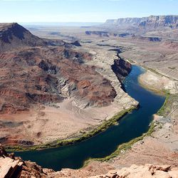 Lee's Ferry is in the Colorado River in northern Arizona. A report released Monday by Interior Secretary Ken Salazar says climate change may have several impacts on the Colorado.