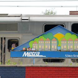 Metra train passing at Hyde Park neighborhood, Chicago. | Victor Hilitski/For the Sun-Times