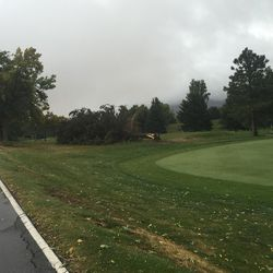 Weather devastation at Hubbard Golf Course on Hill Air Force Base.
