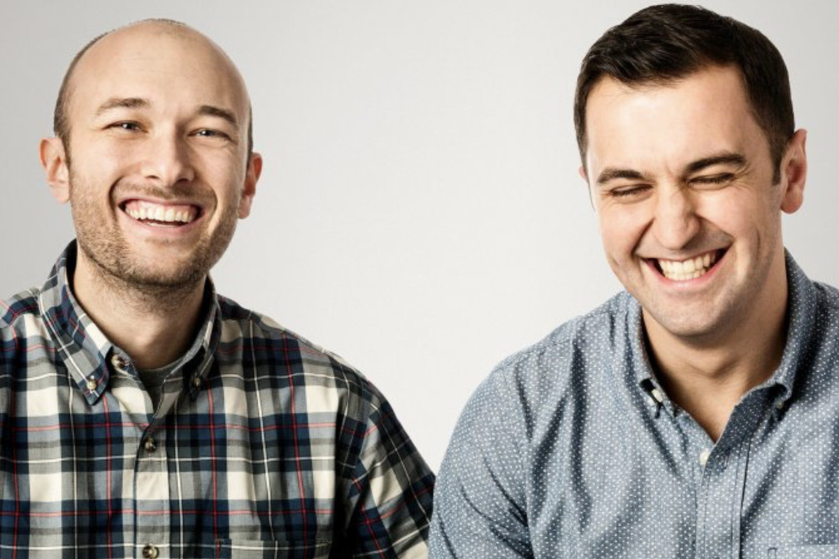 Lyft co-founders Logan Green, left, and John Zimmer