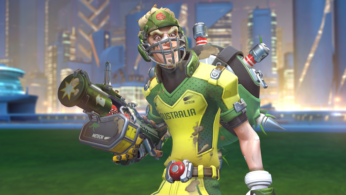 Junkrat's suited up and ready to play.