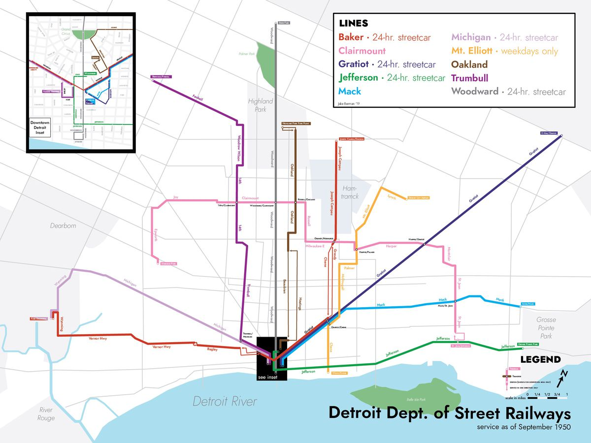 This designer made maps of past and never-built Detroit ...