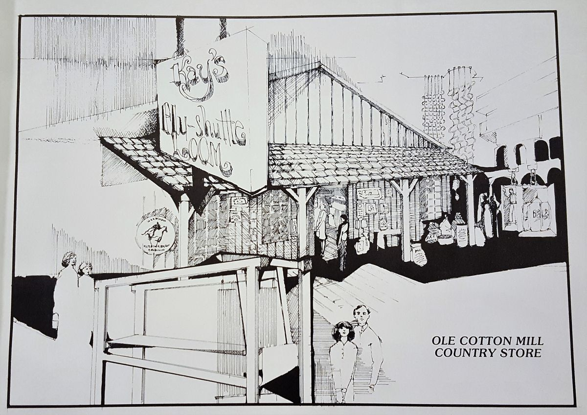 A sketch of the proposed country store.