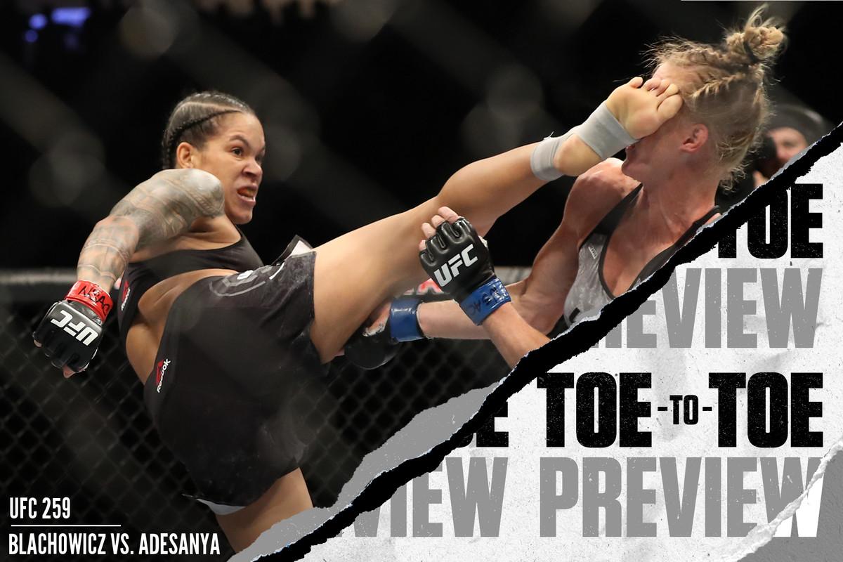 Amanda Nunes head kicks Holly Holm at UFC 239.