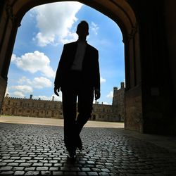 Utah Valley University President Matthew Holland walks the grounds at Christ Church while on a sabbatical at Pembroke College, Oxford University, England, on June 14, 2017.