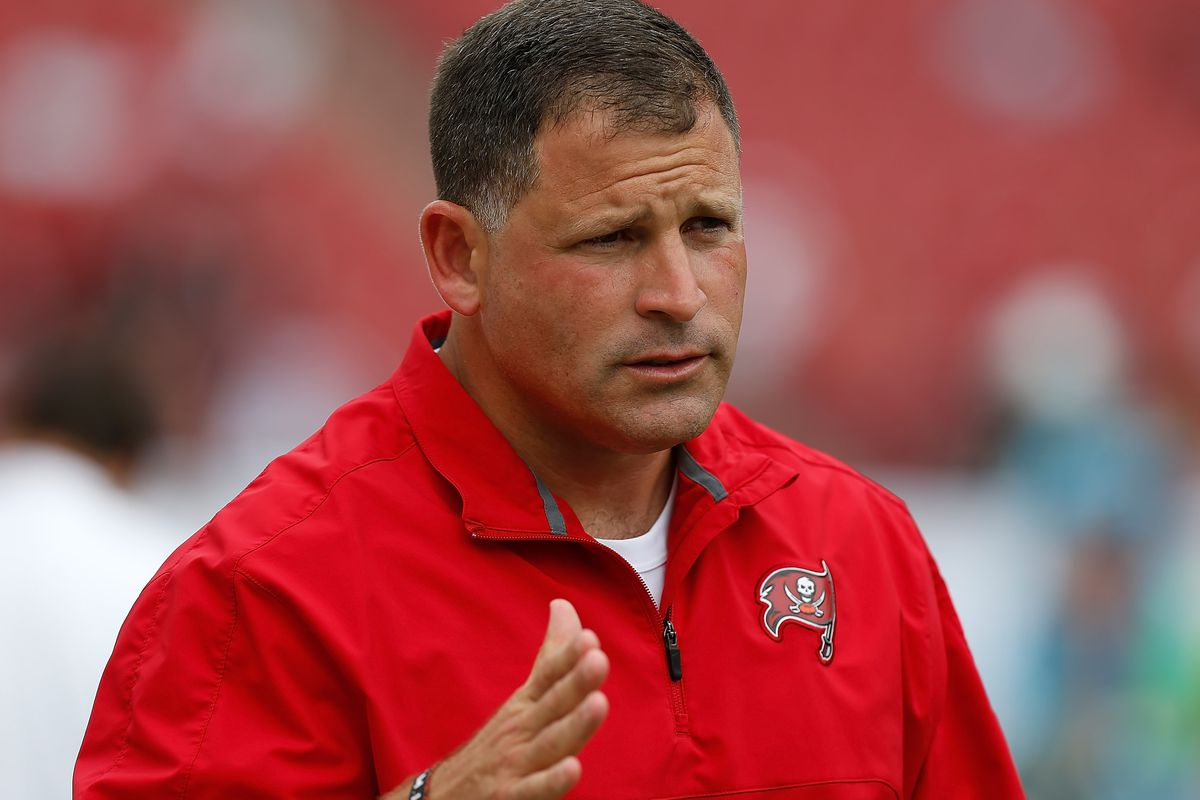 Head coach Greg Schiano of the Tampa Bay Buccaneers. (Photo by J. Meric/Getty Images)