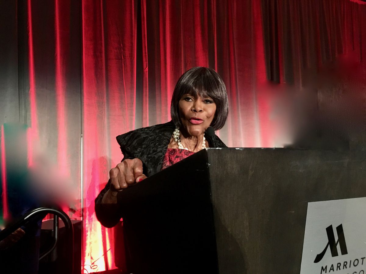 In one of her last visits to Chicago, movie icon Cicely Tyson accepted an award from the DuSable Museum of African American History for her contribution to Black history and culture. The event was held Oct. 12, 2018, at the Near South Side Marriott Marquis.