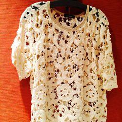 Isabel Marant white lace blouse // Size: M,L // $250