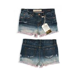 """Destroyed Pink Relaxed Fit Shorts, $44.50 (on sale from $89) at <a href=""""http://williamsburggarment.com/women/destroyed-pink-relaxed-fit-shorts-roebling-street-50-off-sale/"""">Williamsburg Garment Company</a>"""