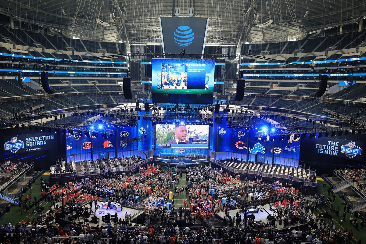 A general view of AT&T Stadium prior to the first round of the 2018 NFL Draft on April 26, 2018 in Arlington, Texas.
