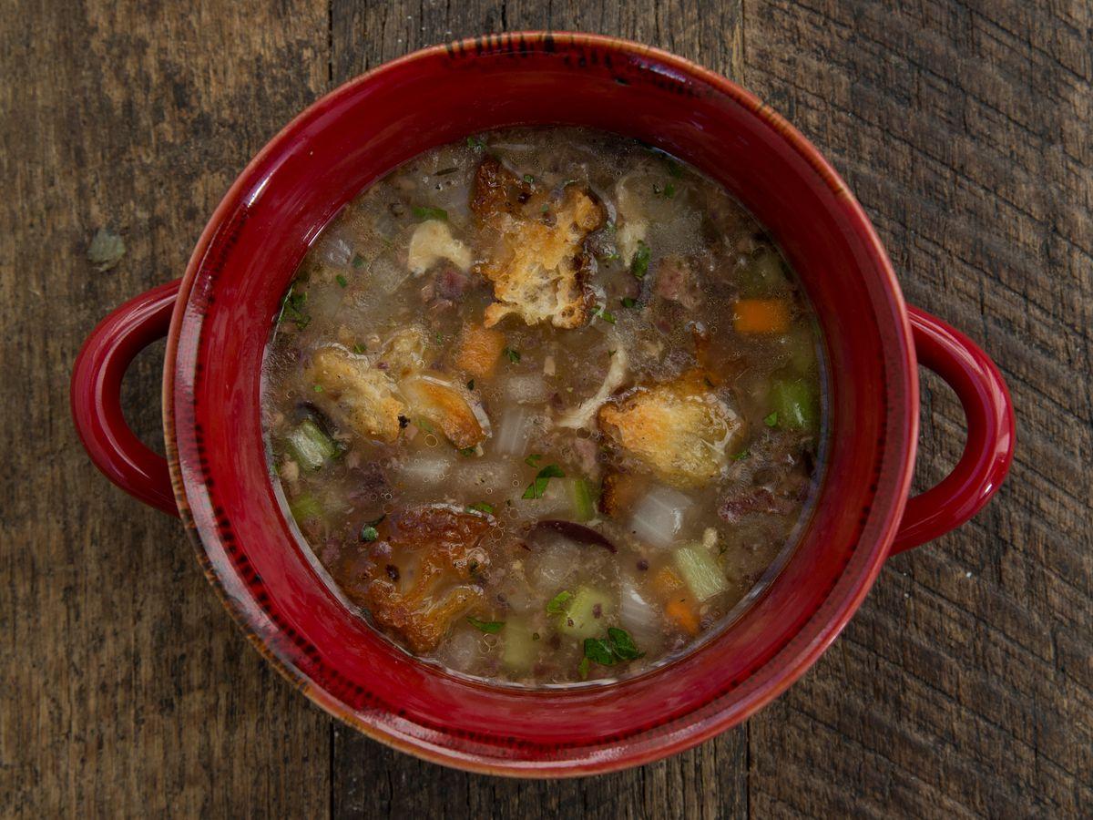 Rotisserie chicken soup at Branch Line