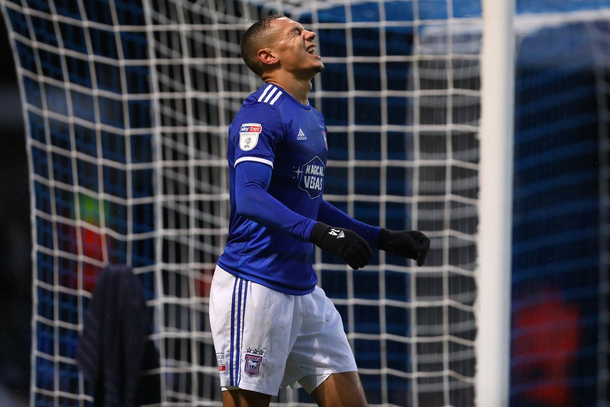 Kayden Jackson of Ipswich Town during the Sky Bet League One...