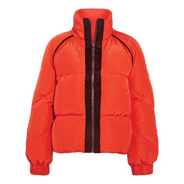 Ganni Trim Puffer Coat