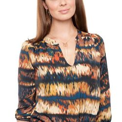 """Alicia blouse, ikat orange; was $159, now <a href=""""http://www.amourvert.com/alicia-blouse-ikat-orange/"""">$111.30</a>"""