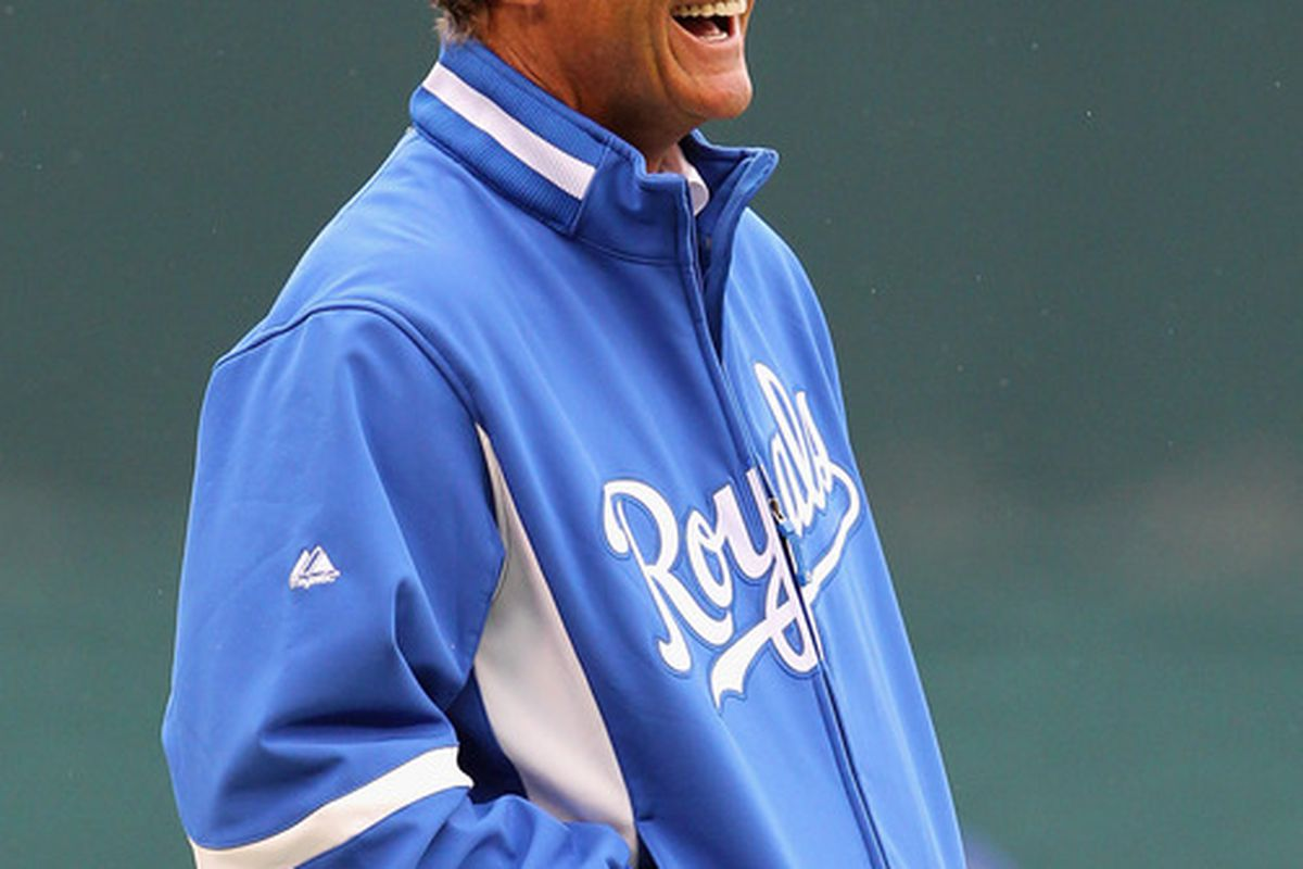 George Brett is really happy about...something