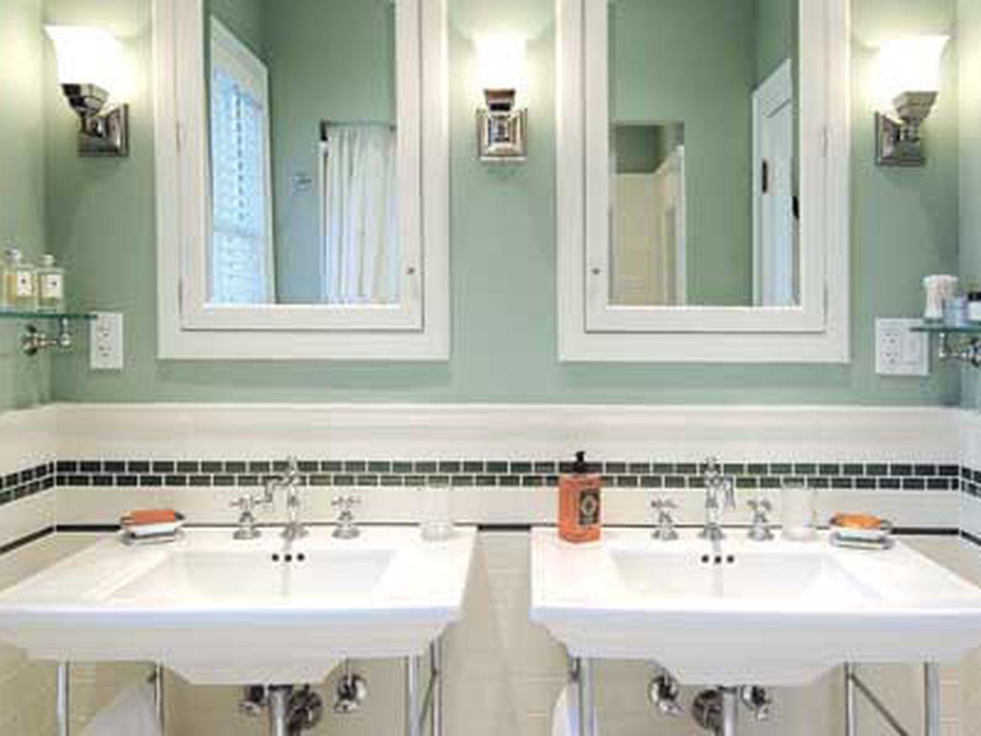 Modern Bath Vintage Looks This Old House