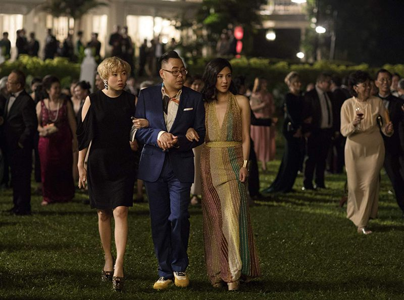 Constance Wu,Nico Santos, andAwkwafina in Crazy Rich Asians