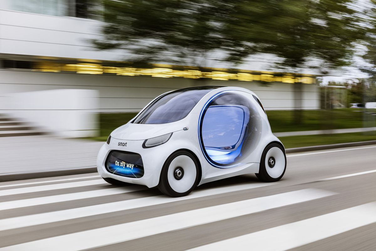 Here S How Daimler Is Evolving Its Tiny Smart Car For Self Driving