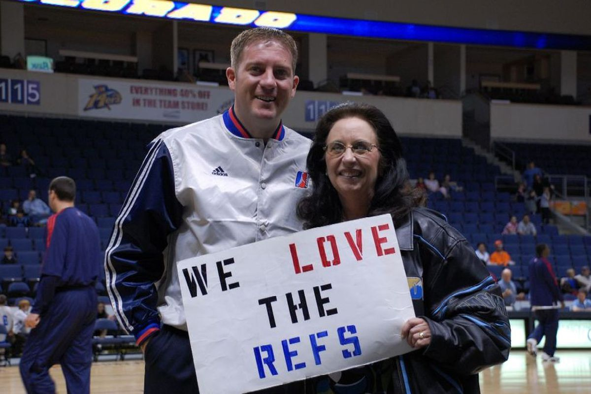 This lady loves D-League Refs, and apparently so does the NBA.