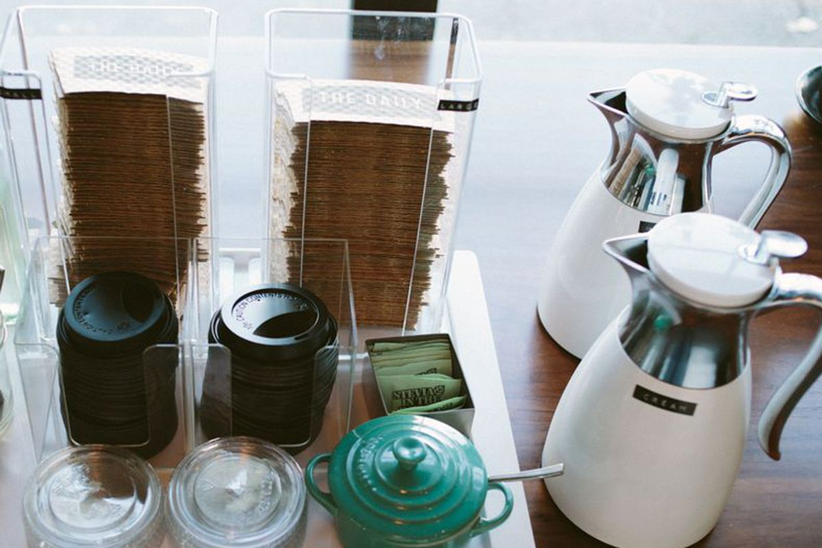 Coffee accessories at The Daily