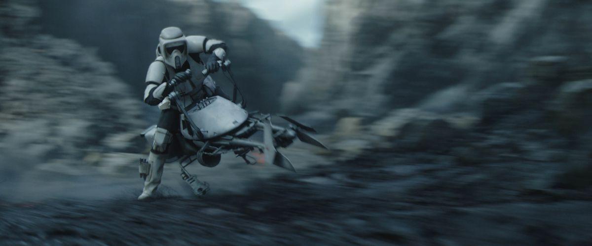 A stormtrooper appears in 'The Mandalorian' season two.