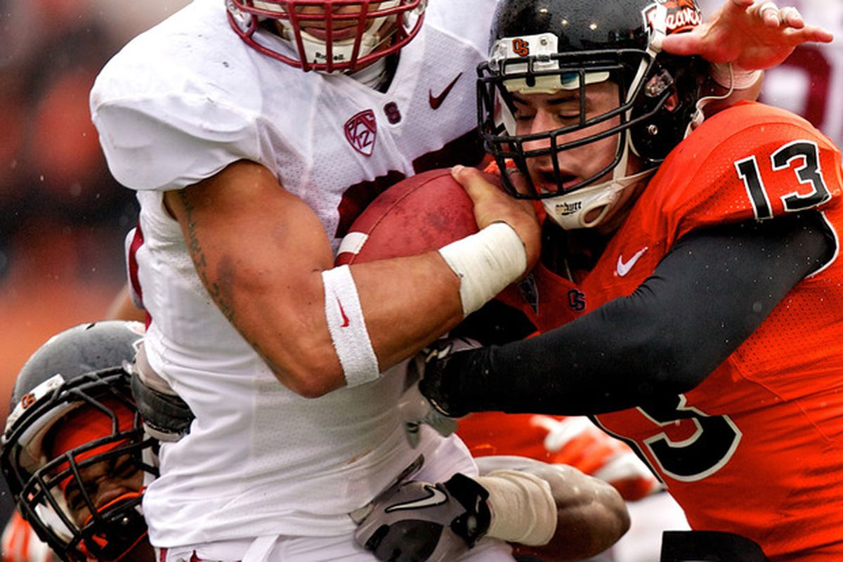 Tyler Gaffney carries for some tough yards against OSU on Saturday.