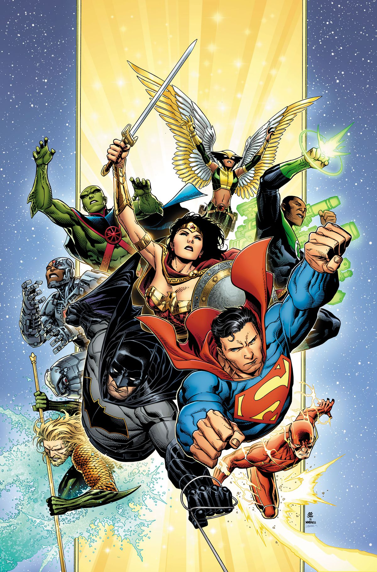 The cover of Justice League #1, DC Comics (2018).